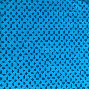no brand Office - 2 Yards Blue Skull Stretch Knit Halloween Fabric